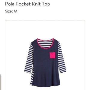 Stitch Fix Loveappella pola pocket knit top